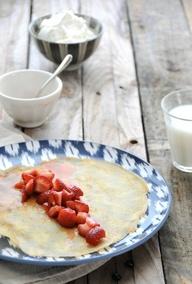 crepes fragole e panna, ricette intolleranti alimentari